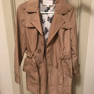Tan rain jacket size small